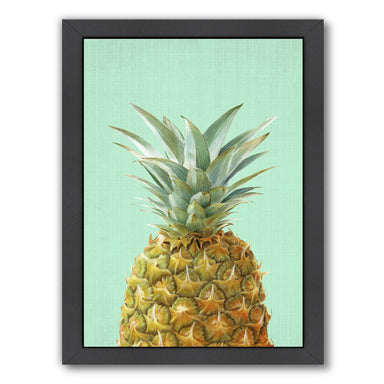 Peek A Boo Pineapple by LILA + LOLA Black Framed Print - Wall Art - Americanflat