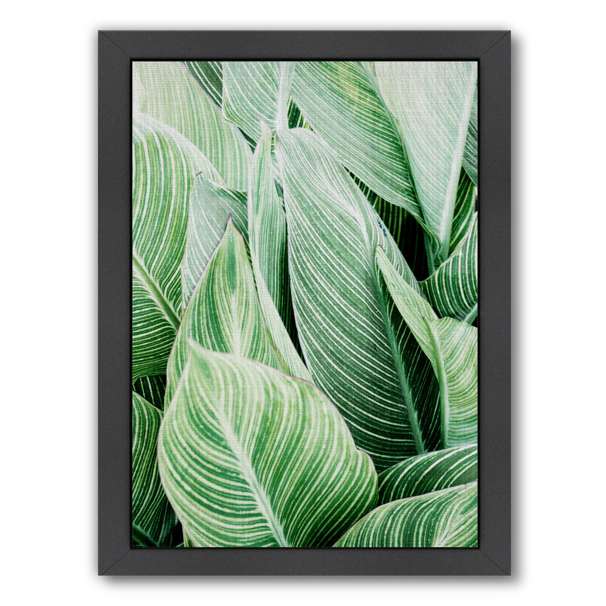 Tropical leaves by LILA + LOLA Black Framed Print - Americanflat