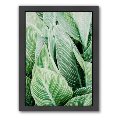 Tropical leaves by LILA + LOLA Black Framed Print - Wall Art - Americanflat