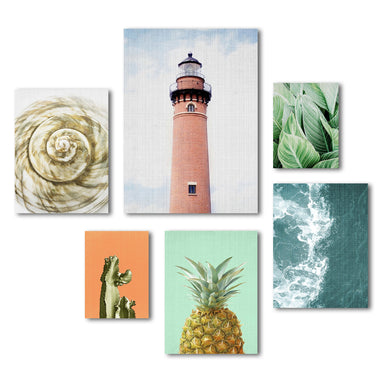 Modern Coastal Beach House Canvas Photography Art Set 2 - Wrapped Canvas - Americanflat