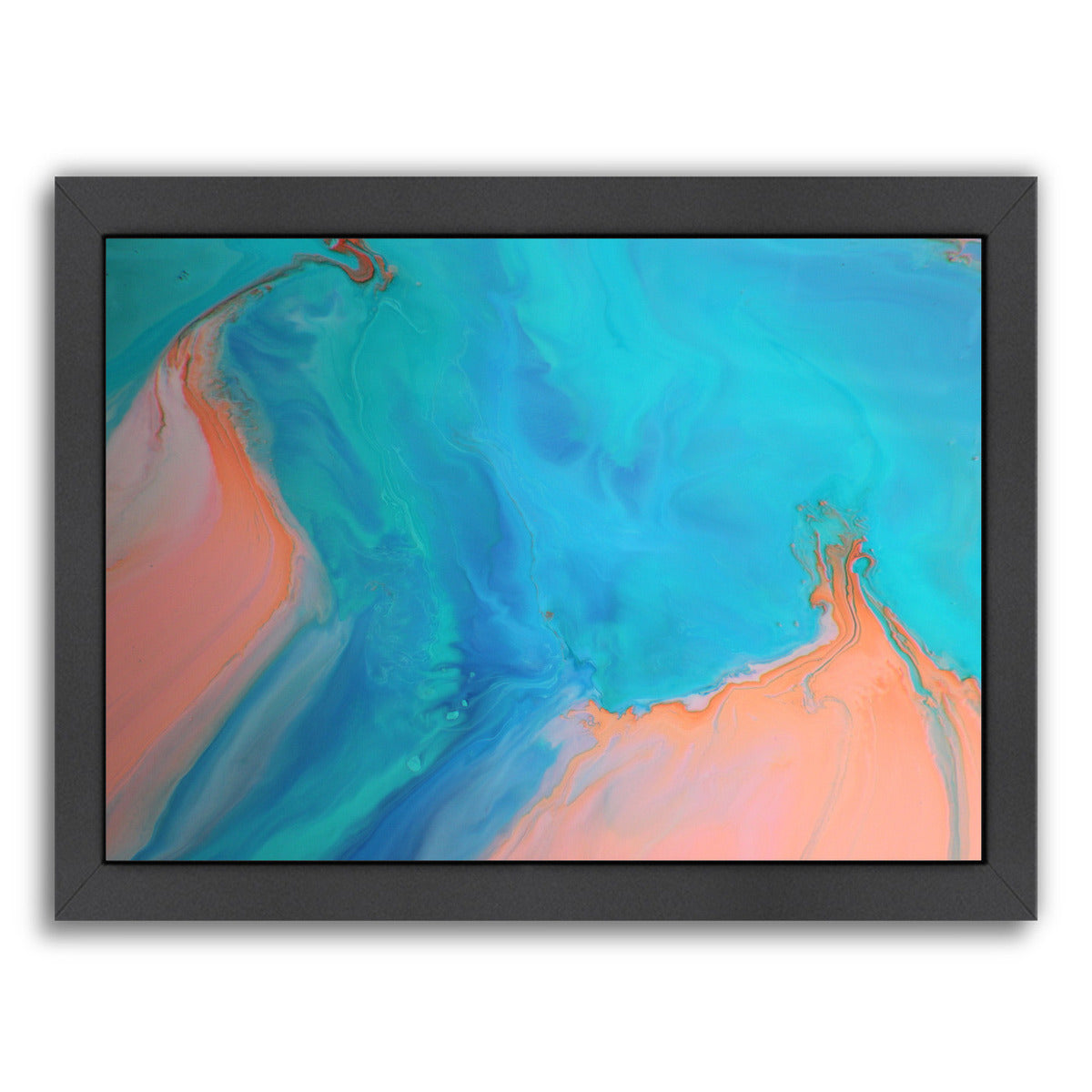 Gold & Aqua Marble by Deb McNaughton Framed Print - Wall Art - Americanflat