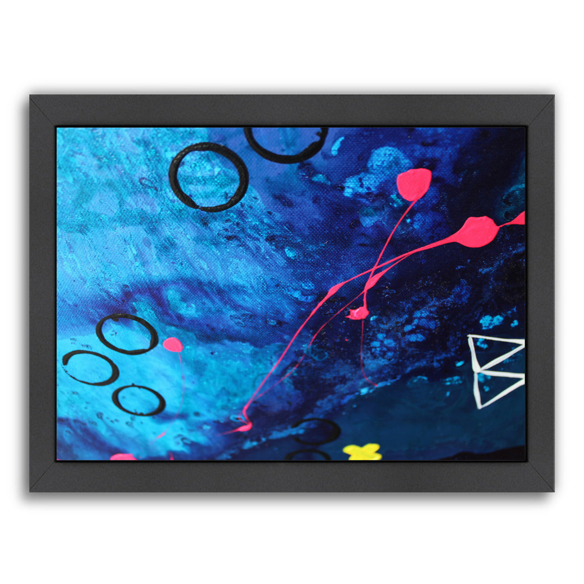 XO Splatter by Deb McNaughton Framed Print - Wall Art - Americanflat