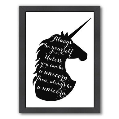 Always Be a Unicorn by Peach & Gold Framed Print - Americanflat