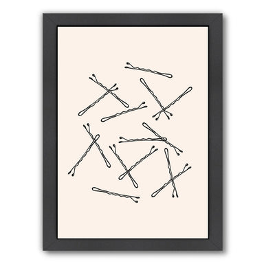 Bobby Pins by Peach & Gold Framed Print - Americanflat