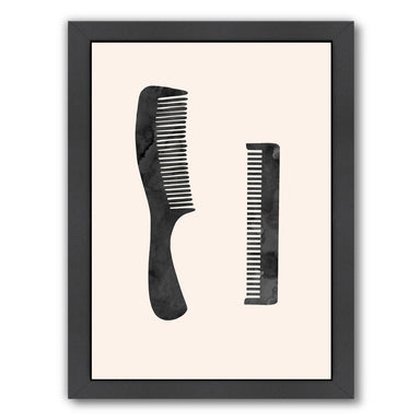 Combs by Peach & Gold Framed Print - Americanflat