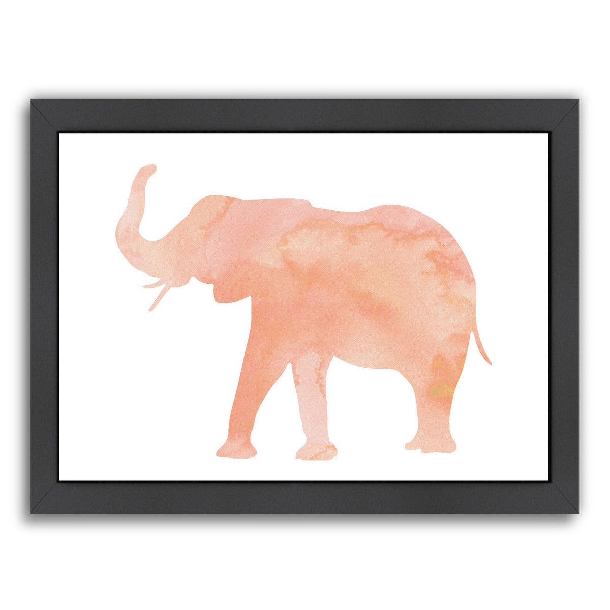 Coral Elephant by Peach & Gold Framed Print - Wall Art - Americanflat