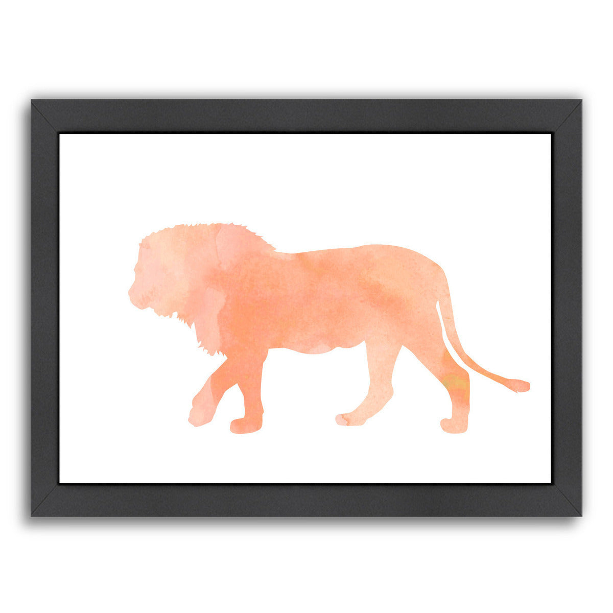 Coral Lion by Peach & Gold Framed Print - Wall Art - Americanflat