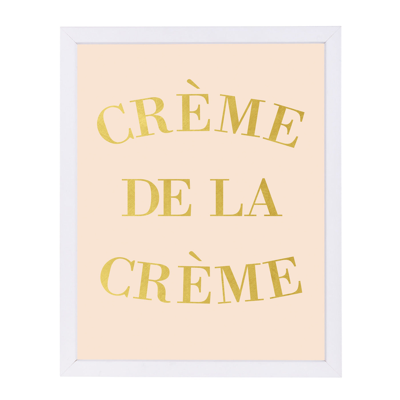 Cr?me de la Cr?me by Peach & Gold Framed Print - Wall Art - Americanflat