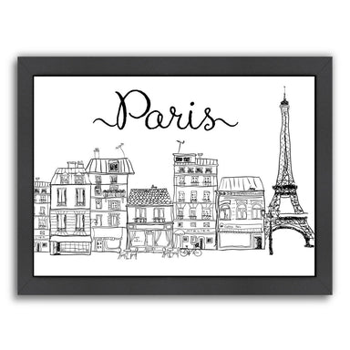 Paris by Peach & Gold Framed Print - Americanflat