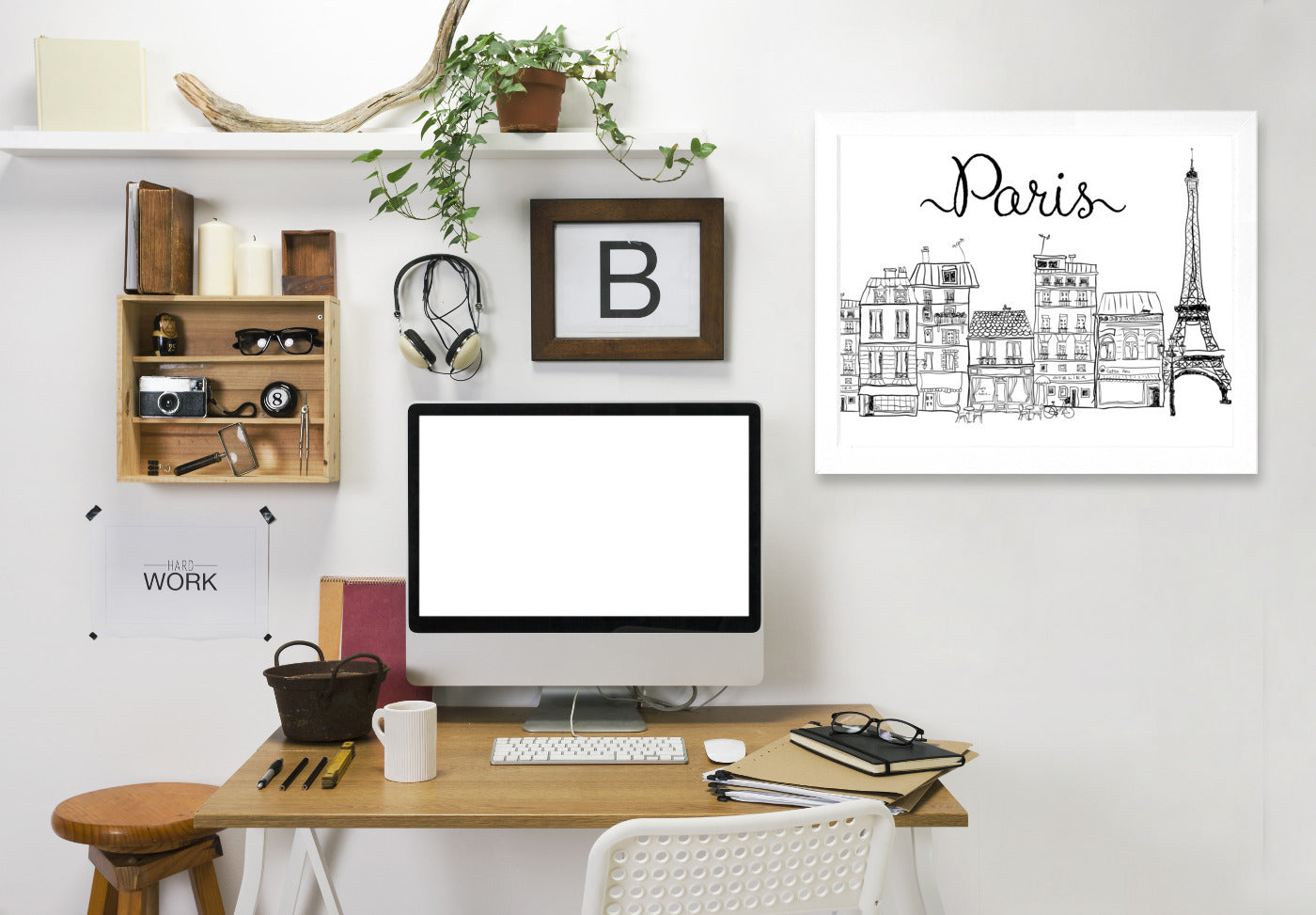 Paris by Peach & Gold Framed Print - Wall Art - Americanflat