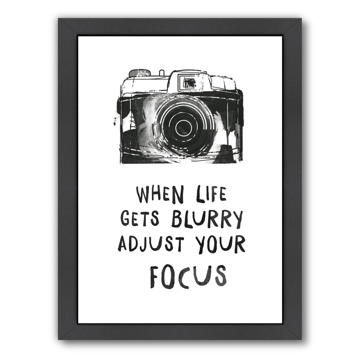 When Life Gets Blurry by Peach & Gold Framed Print - Wall Art - Americanflat