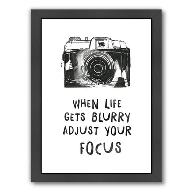 When Life Gets Blurry by Peach & Gold Framed Print - Americanflat