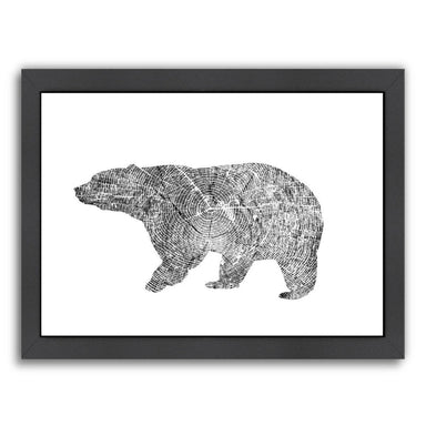 Bear by Peach & Gold Framed Print - Americanflat
