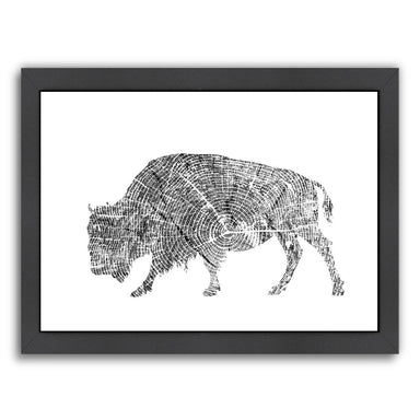 Buffalo by Peach & Gold Framed Print - Americanflat