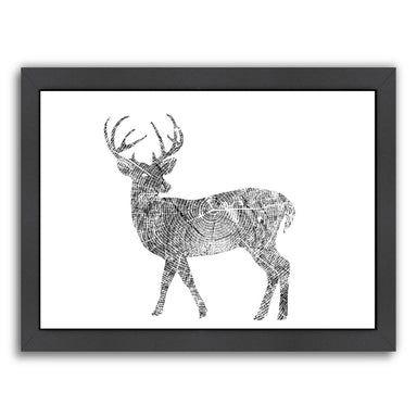 Deer by Peach & Gold Framed Print - Americanflat