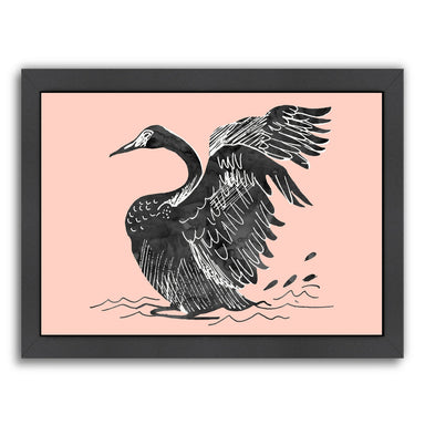 Duck by Peach & Gold Framed Print - Americanflat