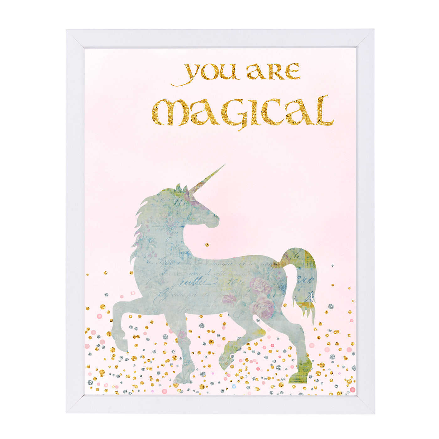 You Are Magical 2 by Peach & Gold Framed Print - Americanflat