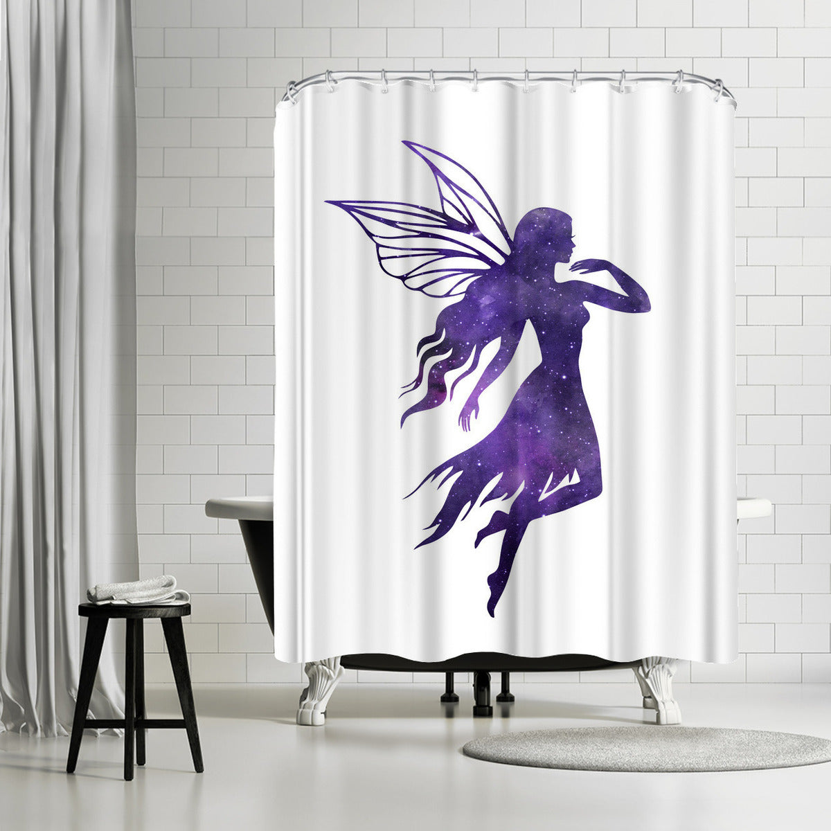 Cosmic Fairy by Peach & Gold Shower Curtain - Shower Curtain - Americanflat