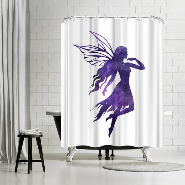 Cosmic Fairy by Peach & Gold Shower Curtain