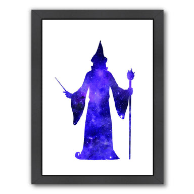 Cosmic Wizard by Peach & Gold Framed Print - Americanflat