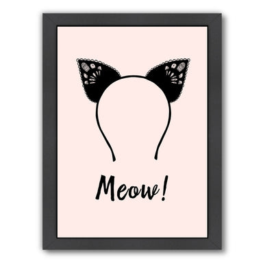 Meow by Peach & Gold Framed Print - Americanflat