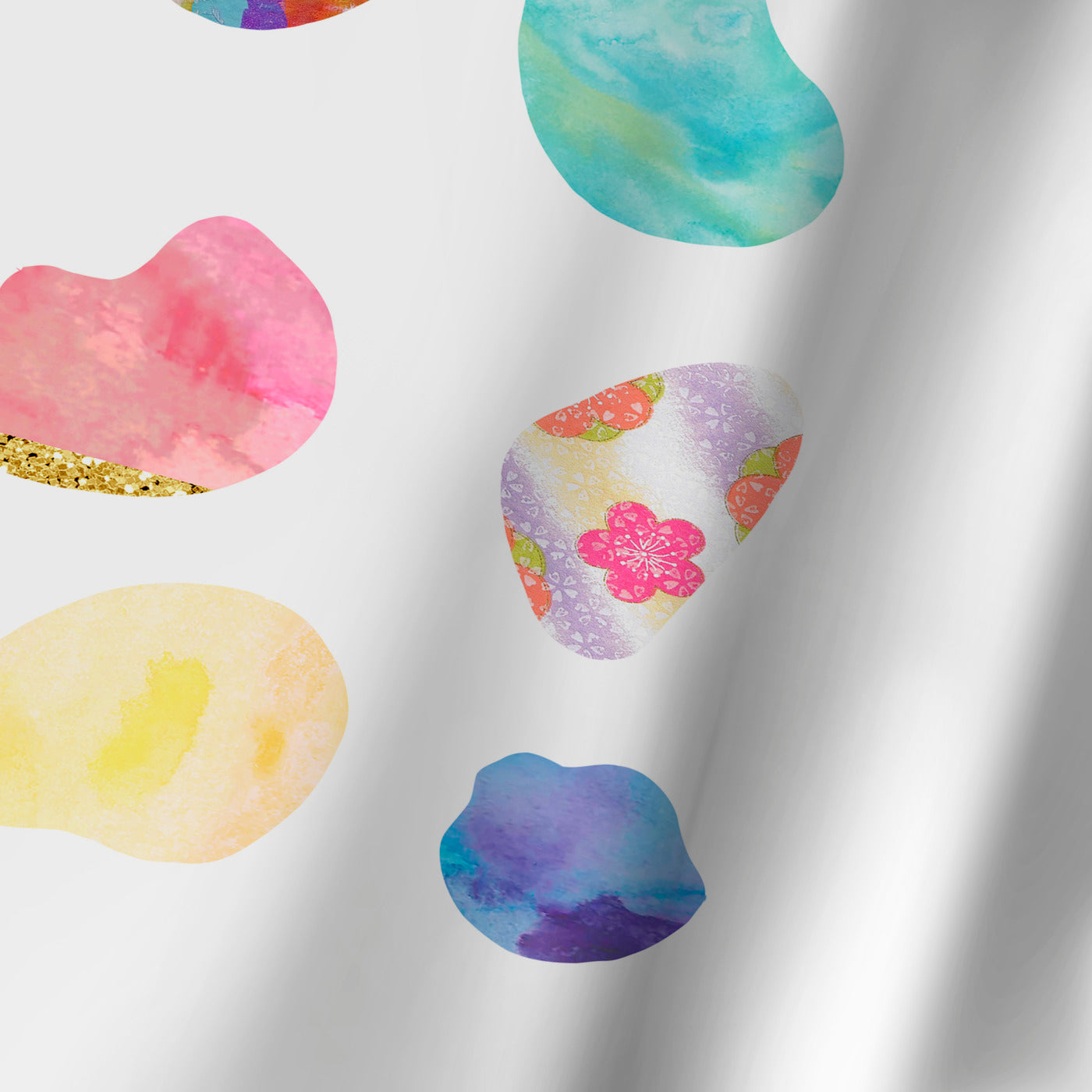 Rainbow Pebbles by Peach & Gold Shower Curtain -  - Americanflat