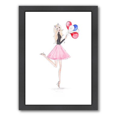 Paris Balloons  by Alison B Framed Print - Wall Art - Americanflat