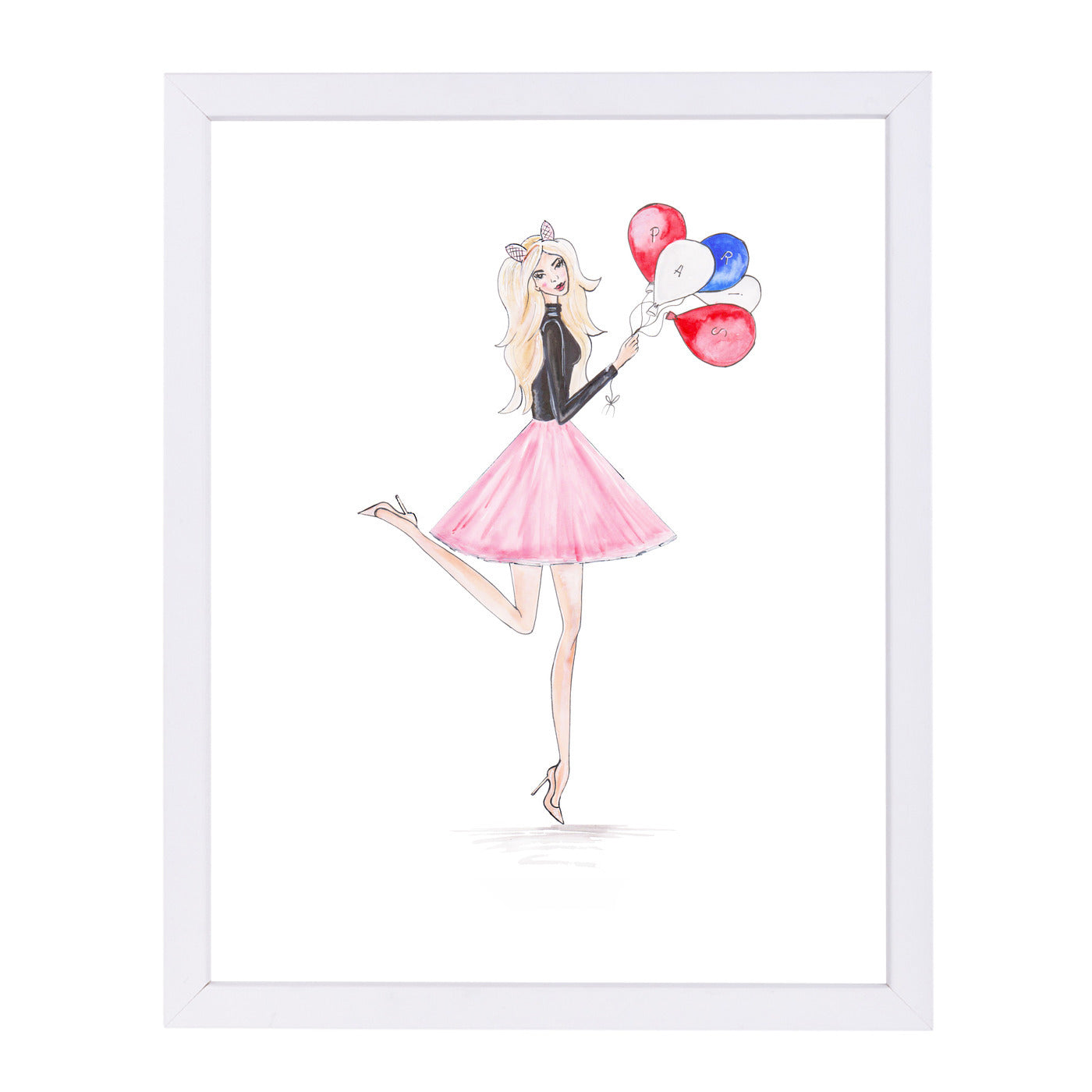Paris Balloons  by Alison B Framed Print - Americanflat