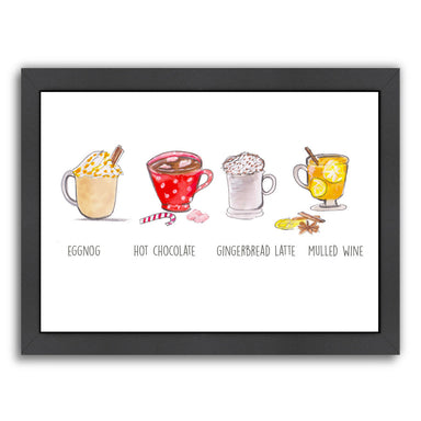 Xmas Drinks by Alison B Framed Print - Wall Art - Americanflat