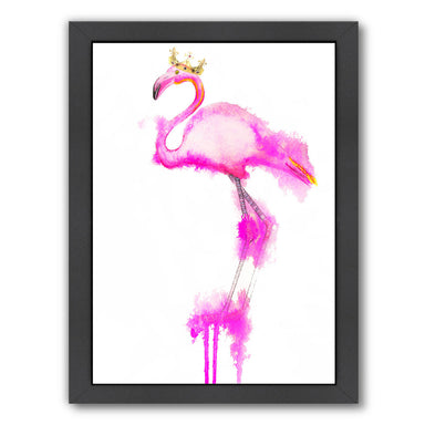 Flamingo crown print by Alison B Framed Print - Wall Art - Americanflat