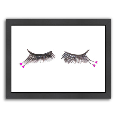 Heart Eyelashes by Alison B Framed Print - Wall Art - Americanflat