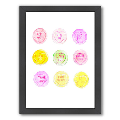 Love heart sweets by Alison B Framed Print - Wall Art - Americanflat