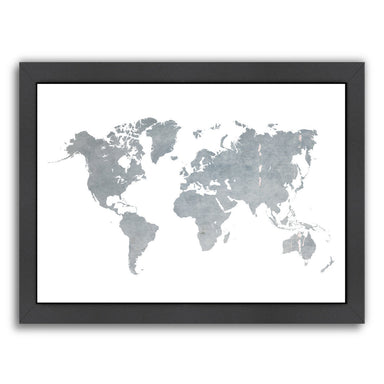 World Map1 by Ikonolexi Framed Print - Americanflat