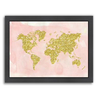 World Map by Ikonolexi Framed Print - Americanflat