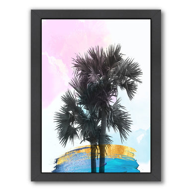 Colorful Palm Tree by Ikonolexi Framed Print - Americanflat