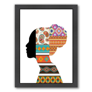Ethnic Woman by Ikonolexi Framed Print - Americanflat