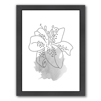 Grey Lilly by Ikonolexi Framed Print - Americanflat