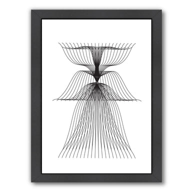 Linear Flower by Ikonolexi Framed Print - Americanflat