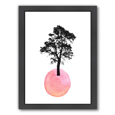 Pink Tree by Ikonolexi Framed Print - Americanflat