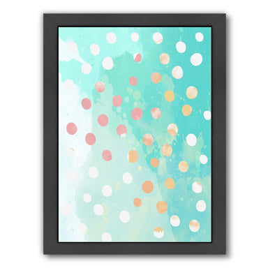 Turquoise Watercolor Painting by Ikonolexi Framed Print - Americanflat