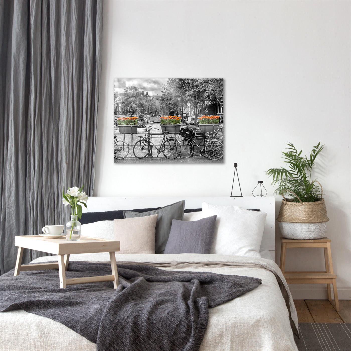 Typical Amsterdam  Panoramic View By Melanie Viola Wrapped Canvas - Wrapped Canvas - Americanflat