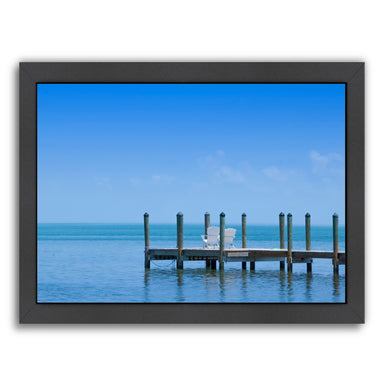 Florida Keys Quiet Place  Panoramic View By Melanie Viola Black Framed Print - Wall Art - Americanflat