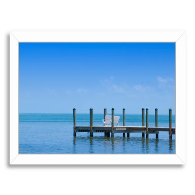 Florida Keys Quiet Place  Panoramic View By Melanie Viola White Framed Print - Wall Art - Americanflat