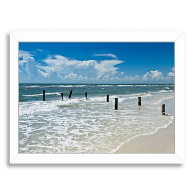Florida Gulf Of Mexico By Melanie Viola White Framed Print - Wall Art - Americanflat