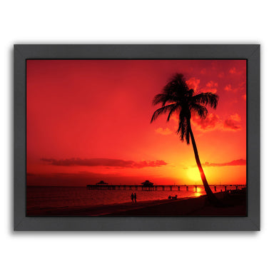 Romantic Sunset By Melanie Viola Black Framed Print - Wall Art - Americanflat