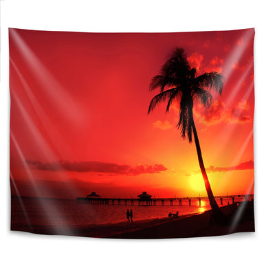 Romantic Sunset by Melanie Viola Tapestry - Wall Tapestry - Americanflat