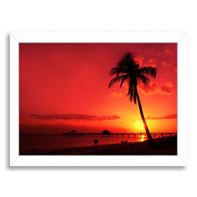 Romantic Sunset By Melanie Viola White Framed Print - Wall Art - Americanflat