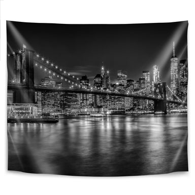 New York City Nightly Impressions by Melanie Viola Tapestry - Wall Tapestry - Americanflat