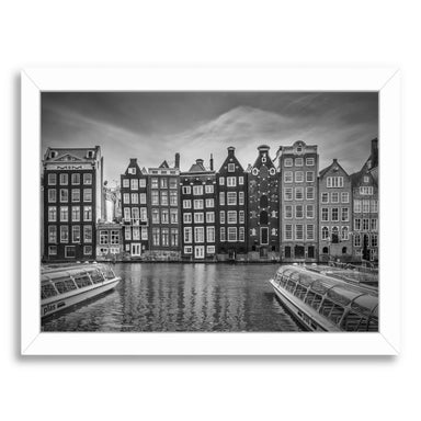 Amsterdam Demark And Dancing Houses By Melanie Viola White Framed Print - Wall Art - Americanflat