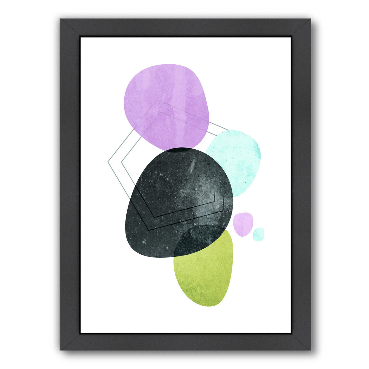 Geometric Art 33 by Pop Monica Framed Print - Americanflat